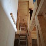 Strohballenanbau - Treppe